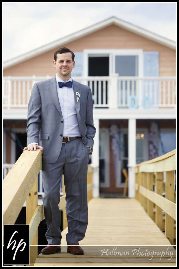 Folly Beach Wedding Photo of groom