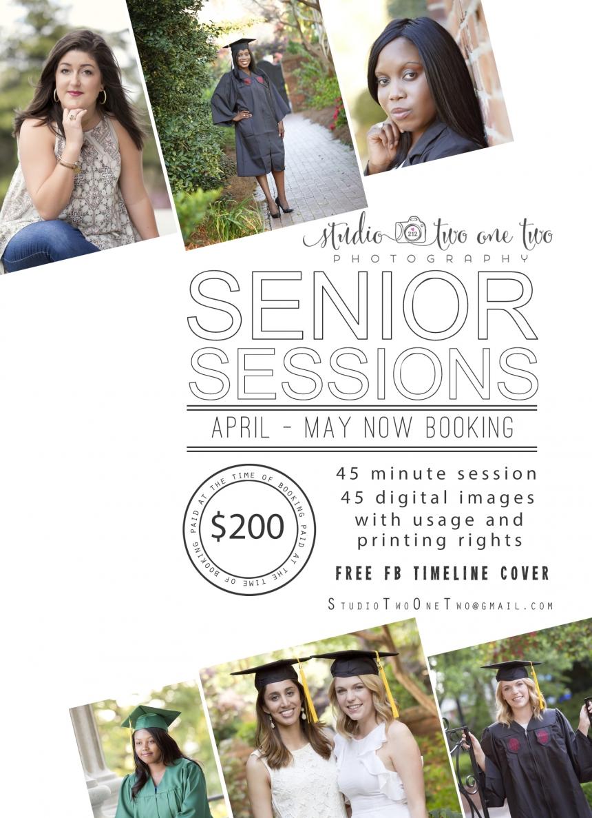 Senior portrait special deal
